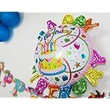 Cospassion バースデーバルーン 巨大風船 誕生日 クリスマス パーティー 飾り付け 【ハンドポンプ付】