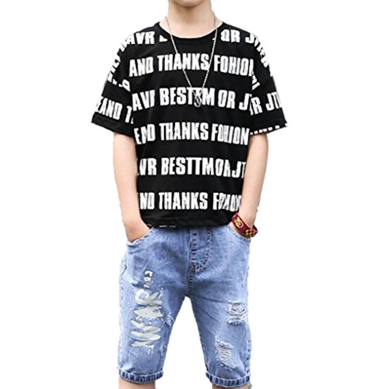 【ズオマ】男の子の夏2018新しいセット子供の子供の男の子の子供半袖の2ピース夏の子供服
