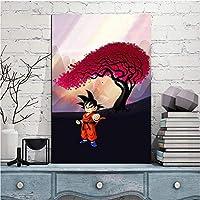 ホームデコレーションキャンバス絵画写真1ピース/ピースドラゴンボールアニメウォールアートワークプリントモジュラーポスター用寝室フレームワーク