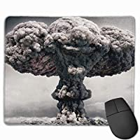 Cheng xiao Mouse Pad Atomic Mushroom Cloud Art Rectangle Rubber Mousepad Non-toxic Print Gaming Mouse Pad with Black Lock Edge,9.8 * 11.8 in,ベーシック マウスパッド ゲーム用 標準サイズ