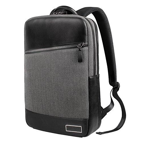 WIWU 高級感ビジネスリュック 二層構造 15.6インチ 撥水 大容量PCバッグ MacBook/ウルトラブック用 出張