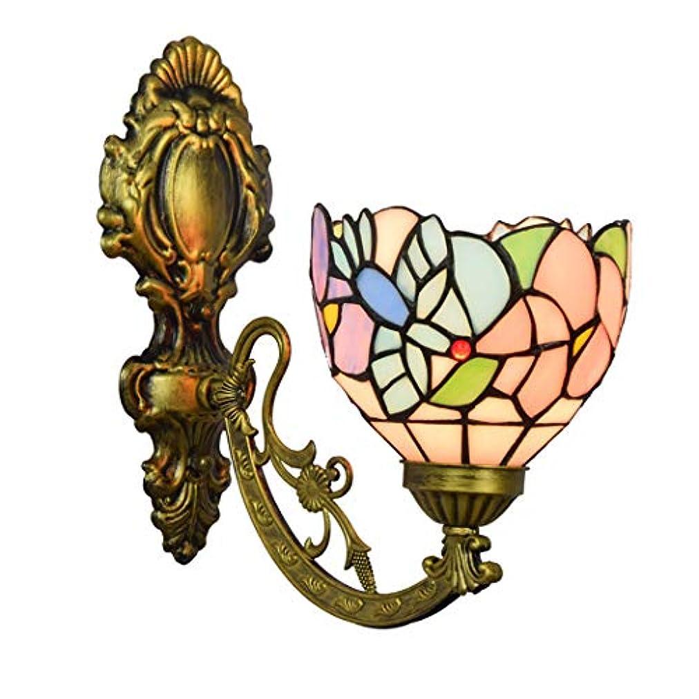 姿勢パケット吐き出す6インチティファニースタイル壁取り付け用燭台ライトステンドグラスの創造的なハチドリの花の日陰の寝室ホテル研究、E27の鉄アートベース