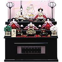 雛人形 収納飾り 三段飾り 芥子親王 柳官女 五人収納箱飾り