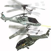 ?数量、3個セット!【2台セット】ラジコン ヘリ RC 赤外線バトル 3.5ch ヘリコプタージャイロ搭載 2機セット 対戦型ヘリコプター ラジコン 戦闘機 210mm BIGサイズ LEDライト点灯 ミリタリーテイスト