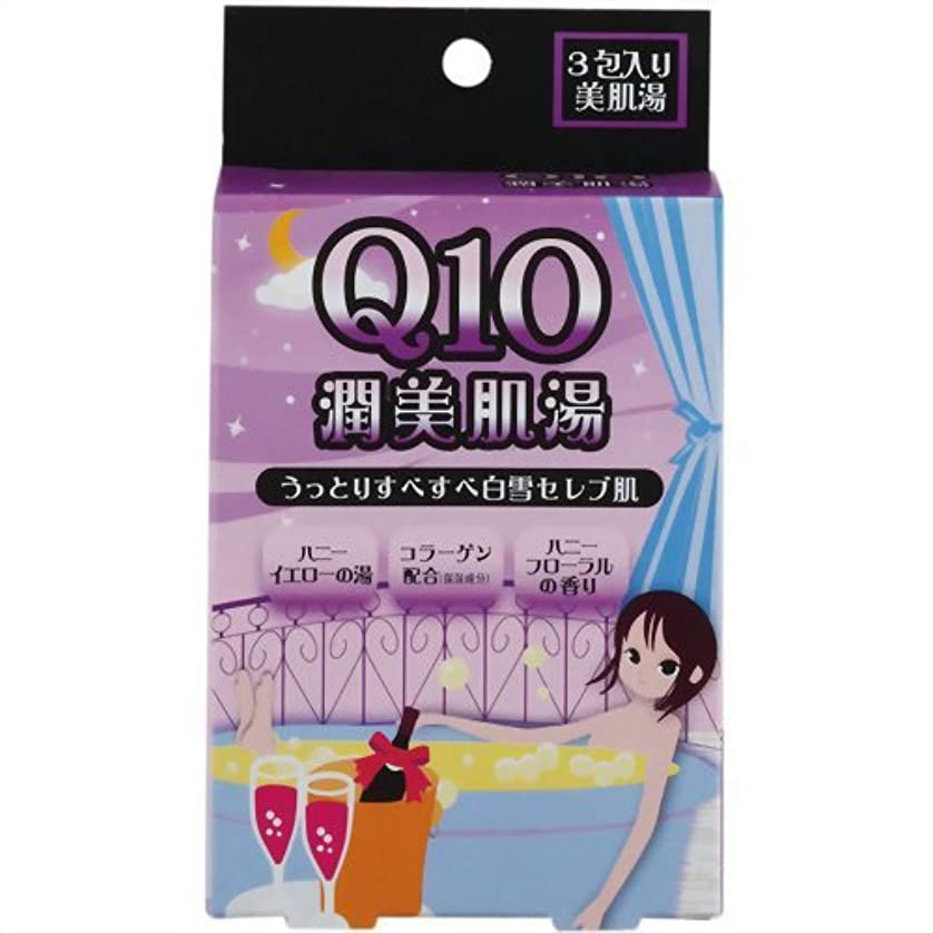 公爵ネコ面白い紀陽除虫菊 Q10 潤美肌湯 (ハニーフローラルの香り)【まとめ買い10個セット】 N-8371