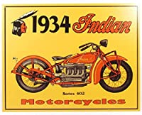 Indian Motorcycle Ad Vintage Tin Sign広告