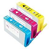 Sophiaグローバル高イールドリサイクルインクカートリッジセットfor HP 902X L HP 902(パックof 3: 1シアン、マゼンタ1, 1イエロー)