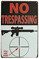 Sumik no trespassing You Are Here Tin Sign、メタル、ヴィンテージアートポスターPlaque denホーム壁装飾
