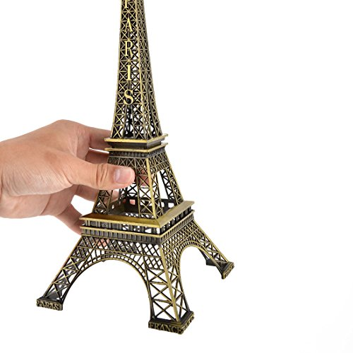 uxcell Metal Home Decor Separable Miniature Eiffel Tower Model 32cm Height Bronze Tone