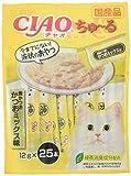 [訳あり(賞味期限2020年3月末)] チャオ (CIAO) 猫用おやつ ちゅ~る 焼かつお かつおミックス味 12g×25本入