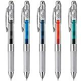 ぺんてる ゲルインキボールペン エナージェルインフリーセット AMZ-BLN75TL5 0.5 5本
