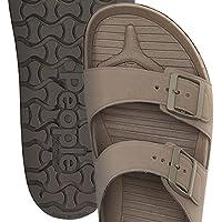 PEOPLE FOOTWEAR (ピープル フットウェア) コンフォートサンダル EVA素材 メンズ レディース LENNON - Fossil Brown Moustache Brown NC04-034