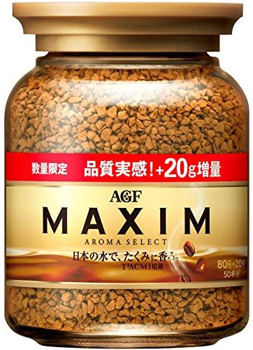 AGF マキシム インスタントコーヒー 瓶 期間限定増量 80+20gの詳細を見る