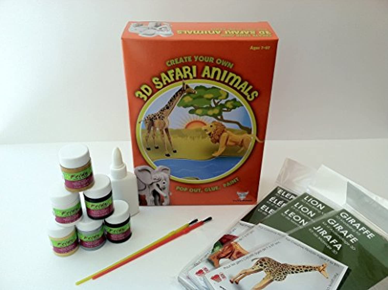 (Safari Animals) - TruTru Animals Safari Animals 3D Modelling Box Set; DIY Craft Kit ; Arts and Crafts, Model Kit