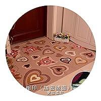 超薄型フロアマットのドアマットフロアマット玄関ホールフロントドア,心と魂,78 * 100cm