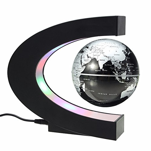 MECO 磁気浮上 地球儀 浮遊・回転型の地球儀 3 inch 磁気浮上 世...