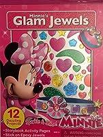Disney Minne's Storybook Activity Book Glam Epoxy Jewels Sparkle Shine [並行輸入品]