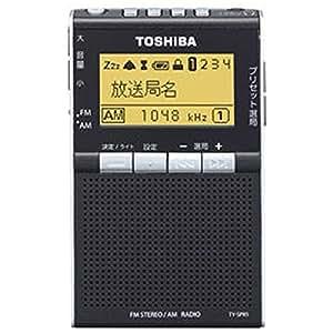 東芝 ワイドFM/AMポケットラジオTOSHIBA TY-SPR5-K