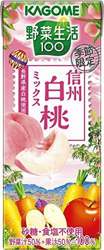 カゴメ 野菜生活100季節限定 信州白桃ミックス ×24本