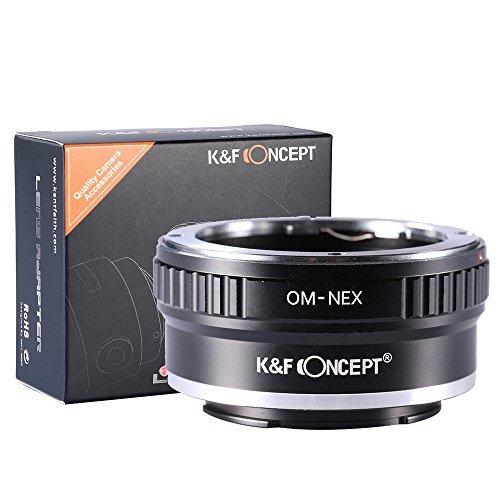 K&F Concept® マウントアダプター Olympus OMレンズ- Sony NEX Eカメラ装着用レンズアダプターリング Sony NEX-3 NEX-3N NEX-5 NEX-5R NEX-6 NEX-7カメラ専用
