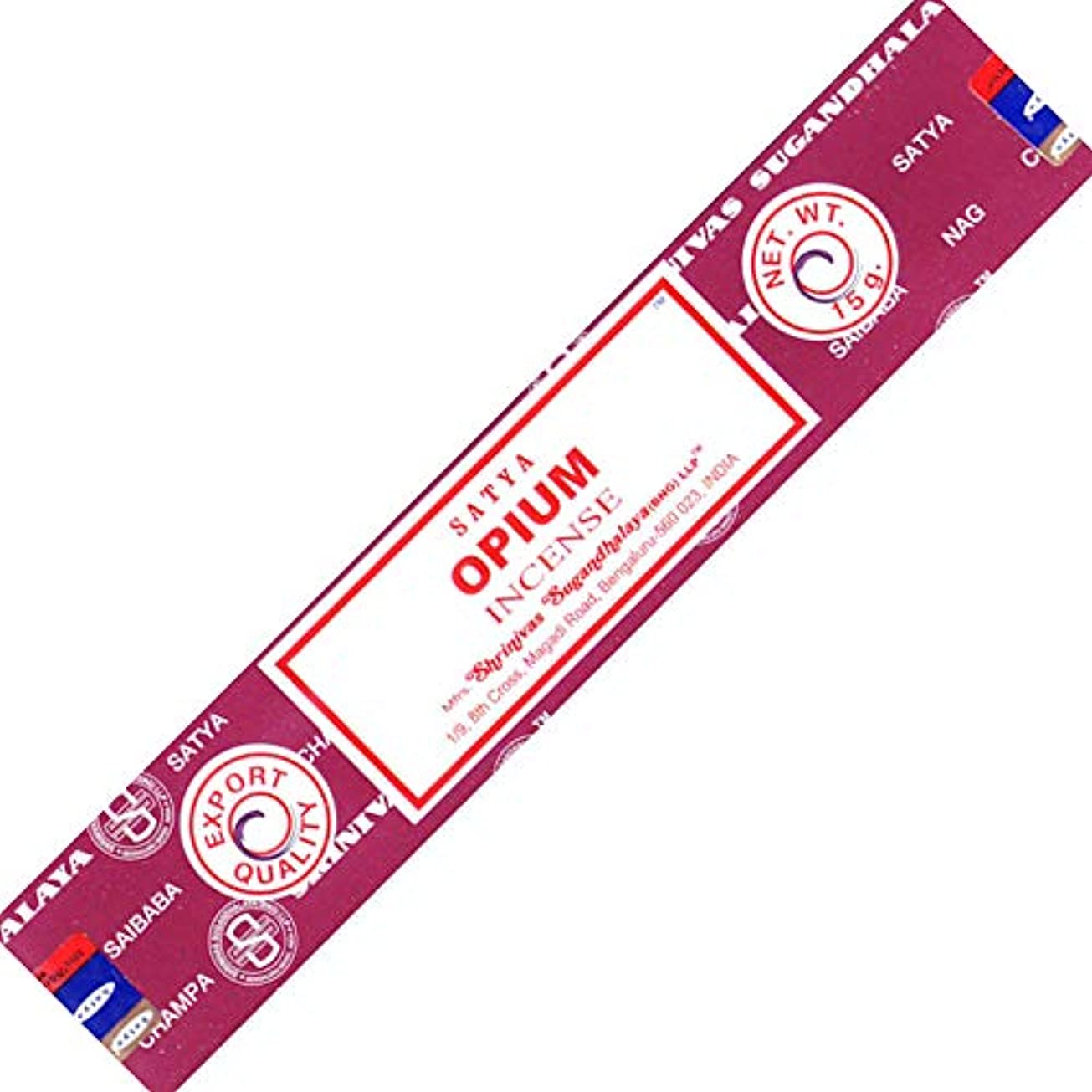 ストレス古風なミスSatya Opium Incense Stick --- 15グラム
