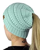 Womens Winter Hats warm knitted Horsetail Lady Wool Knit Ski Hat