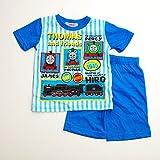 きかんしゃトーマス 半袖Tシャツ生地のパジャマ 100-130cm(732TM007112) (100cm, ブルー)