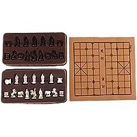 Fityle レトロ 中国 チェス 樹脂 テラコッタの戦士 チェスピース 家 パーティー 旅行 ボードゲーム