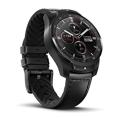 Ticwatch Pro スマートウォッチ 長い待機時間 二つモード 腕時計 心拍計 GPS 健康管理 歩数計 着信/Line/メール通知 防水/防塵 音声操作 Wear OS by Google iPhone/Android対応 日本語対応