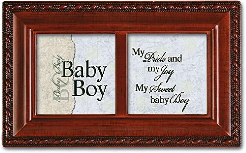 Cottage Garden Baby Boy木目調小柄音楽ボックス/ジュエリーボックスPlays Brahms子守歌