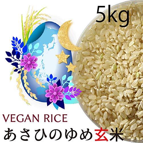 【令和元年産】あさひの夢玄米 5kg 無農薬・無化学肥料(動物性肥料不使用) 群馬県産・放射性物質検査済
