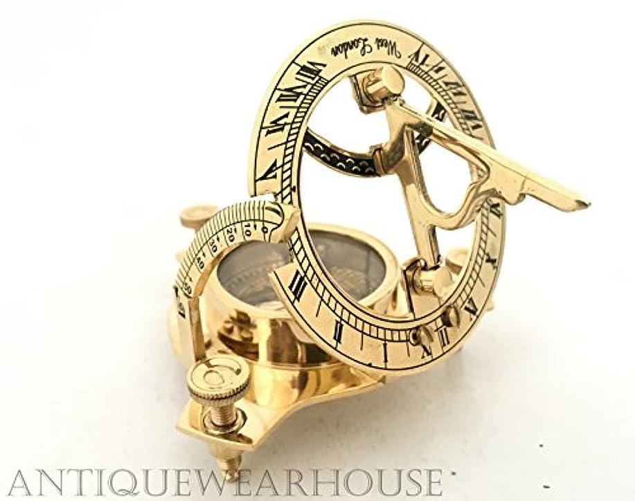 潤滑する優れたチャットヴィンテージMaritime Westロンドンアンティーク真鍮日時計コンパス航海の装飾ギフト