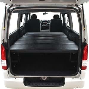 MGR Customs ハイエースベッドキット 200系 標準S-GL用 ブラックレザー 40mmウレタン仕様 車中泊に最適。リアシートベルト有