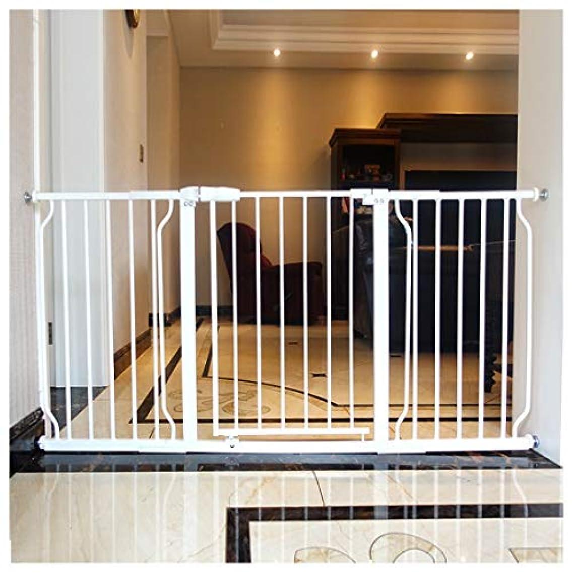 寸前経験者うるさいベビーゲート ドアや階段の圧力フィット、ノー掘削用メタル安全門の拡張、オートクローズペットゲート階段赤ちゃんの安全ゲートは70センチメートル - 拡張機能付き85センチメートル門 (Size : Width 194~205.9cm)
