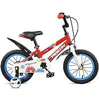 YANFEI 子ども用自転車 赤と黄色の自転車赤ちゃん3-6歳の赤ちゃんのキャリッジ14/16/18インチの子供の自転車赤ちゃん/子供の自転車 子供用ギフト