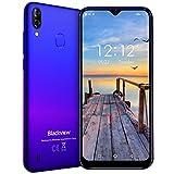 Blackview A60 【2019】スマートフォン SIMフリースマートフォン本体 3Gスマホ本体 Android 8.1 6.1 インチ 92%画面占有率 5MP+Sony 13MPデュアルカメラ 1GB+16GB 4080mAh大容量バッテリー 技適認証済み 携帯電話 1年間保証付き ブルー