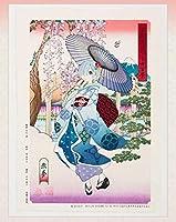 限定100枚浮世絵木版画 Re:ゼロから始める異世界生活 冨嶽異世界少女百景 恋夢 ラム スバル エミリア