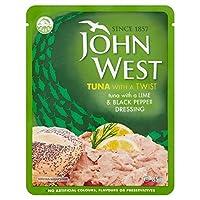 ジョン西マグロライム&ペッパーポーチの85グラム (x 4) - John West Tuna Lime & Pepper Pouch 85g (Pack of 4) [並行輸入品]