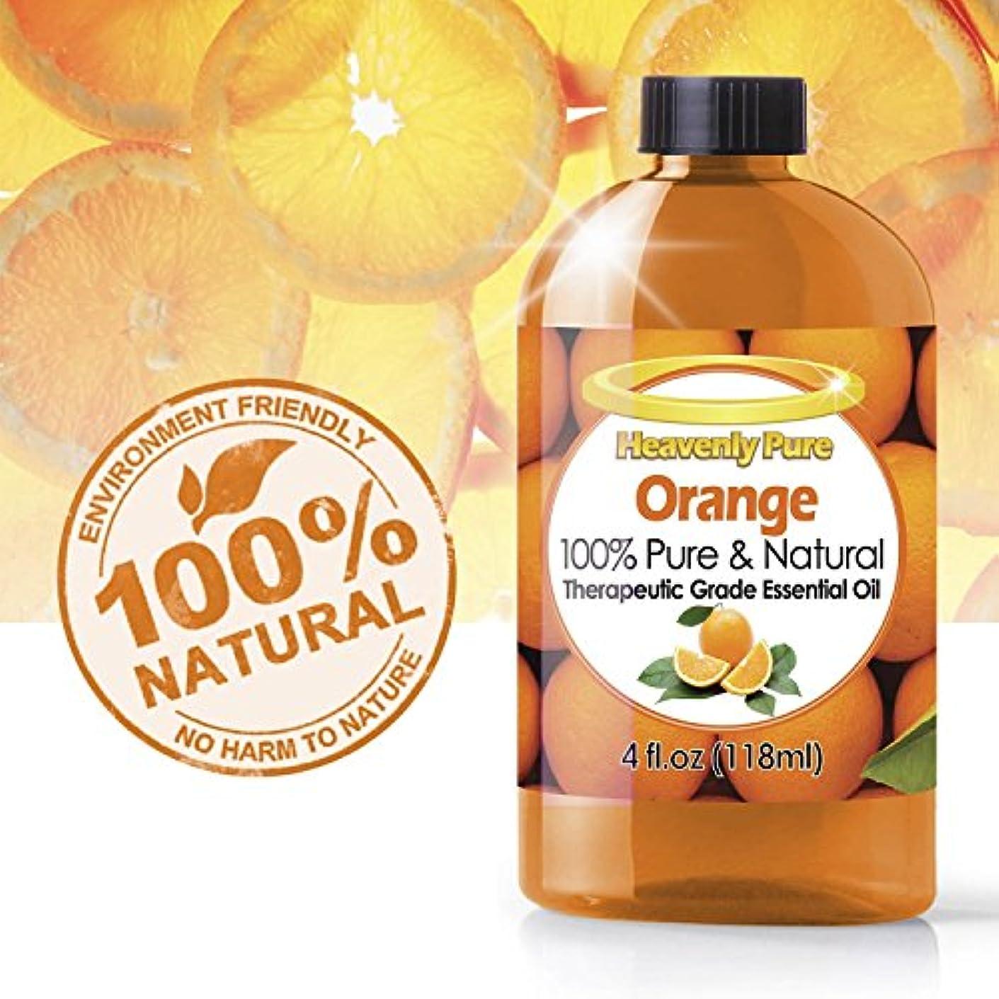 伝染性のコンプライアンスマルクス主義者オレンジエッセンシャルオイル(HUGE 4 OZ)アイドロップ剤 - 100%ピュア&ナチュラルスイートシトラスアロマ - 治療グレード - オレンジオイルはアロマセラピー、イミュニティ、天然抗菌、および洗浄に最適です