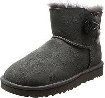 [アグ] ブーツ MINI BAILEY BUTTON II 1016422 12623717 GREY US 8(25 cm) [並行輸入品]