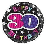 (サイモン・エルヴィン) Simon Elvin 30歳 お誕生日おめでとう Happy Birthday アルミ風船 パーティー バルーン (ワンサイズ) (マルチカラー)