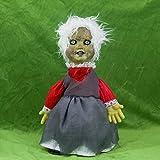 ハロウィンおもちゃ 怖い お化け 魔女 ゴースト 電動人形 ボイス付き 音・振動反応 単三電池式 DOMO