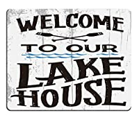 ゲーミングマウスパッドカスタム、私たちの湖の家マウスパッド滑り止めゴム快適なカスタマイズされたコンピューターマウスパッドへようこそ