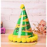 HuaQingPiJu-JP 誕生日パーティー用品シャイニングスターコーン帽子リトルソフトボールCap_Orange