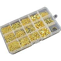 TABLE TREE アクセサリー 基本 パーツBox 14種類 + 指カン セット 手芸 材料 スターター 等にも(ゴールド)