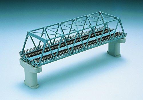 Nゲージストラクチャー 複線トラス鉄橋 (F) 青 (複線PC橋脚・2本付) 3051
