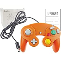 Bowink 有線 ゲームパッド コントローラ ニンテンドー Wii ゲームキューブ Gamecube Switch WiiU 専用 振動対応(オレンジ)