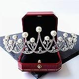 Amazon.co.jp日本と韓国のダイヤモンドの王冠ブライダルヘアアクセサリーブライダルヘッドドレスバロック王女の宝石と結婚