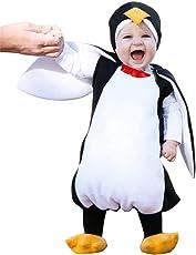 Aliciga ペンギン ロンパース フットカバー 二点セット コスチューム ベビー服 ノースリーブ 赤ちゃん 子供服 キッズ 男の子 女の子 可愛い 柔らかい 動物 変装 コスプレ衣装 パーティー おもしろい ボディスーツ ハロウィン クリスマス (90, ブラック)