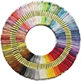 100 Skeins Per Pack, Cross Stitch Threads, Premium Rainbow Color Embroidery Floss, Friendship Bracelets Floss, Polyester Cotton Crafts Floss